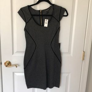 NWT Black and gray Express dress